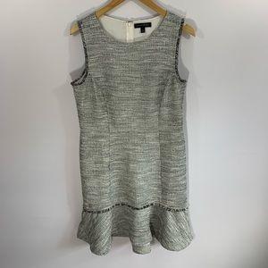 Banana Republic Bouclé Fringe Sheath Dress Size 12